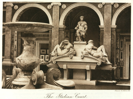 Michelangelo sculptures, Italian Court, the Crystal Palace, London, 1911.