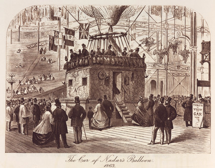 'The Car of Nadar's Balloon, 1863.'