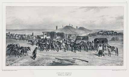 Horse staging post, Moldavia, 19 July 1837.