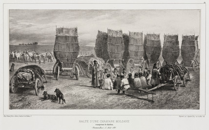 Halt of a Moldavian coal caravan, Besarabia, 5 August 1837.
