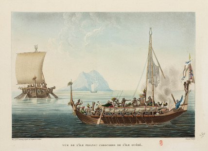 Boat from the island of Guebe, 1817-1820.