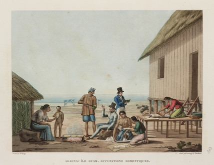 Domestic occupations, Agagna, Guam, 1817-1820.