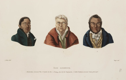 Sandwich Islands portraits, 1817-1820.