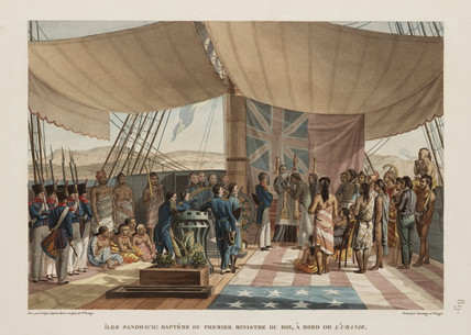 Baptism of the king's prime minister, Sandwich Islands, 1817-1820.