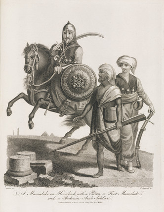 Mamluks and Bedouin soldier, 1804.