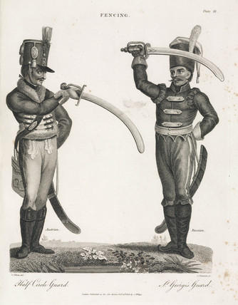 'Fencing: Half Circle Guard - St George's Guard', 1806.