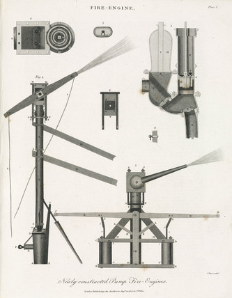'Newly constructed Pump Fire-Engines,' 1805.