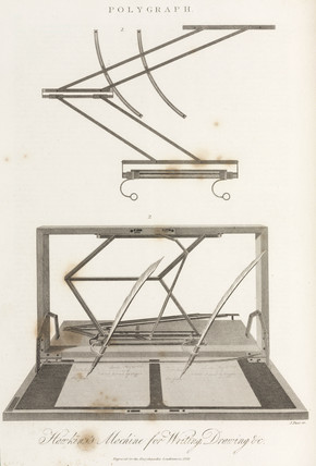 'Hawkins's Machine for Writing, Drawing etc', 1825.