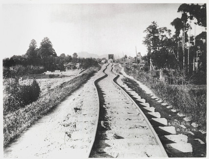 Twisted railway line after the earthquake, Japan, 1891.