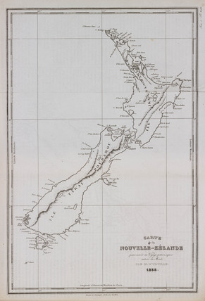 Map of New Zealand, 1835.