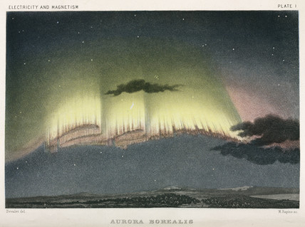 Aurora Borealis, Norway, 1839.