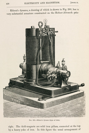 Edison's dynamo (type of 1884), 1891.