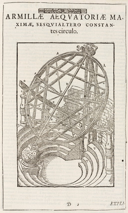 Tycho Brahe's equatorially mounted circles, after 1580.