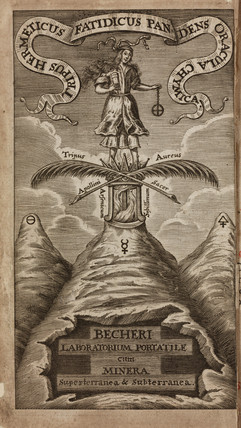 Allegorical figure and elements, 1689.