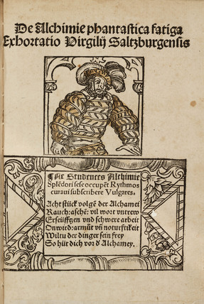 Epigram to a medieval German work on mineralogy and alchemy, 1518.