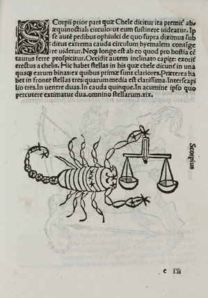 The constellation of Scorpio, 1488.