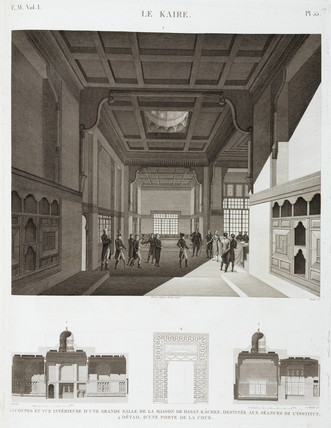 The house of Hasan Kachef, Cairo, Egypt, c 1798.