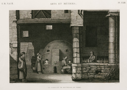 Glasworks, Egypt, c 1798.