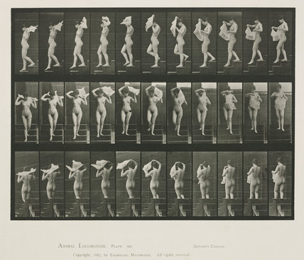 Muybridge, Eadweard -- Time-lapse photographs of a man