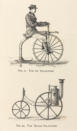 'The Ice Velocipede' and 'The Steam Velocipede', 1869.