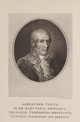 Alesandro Volta, Italian physicist and inventor, c 1820.