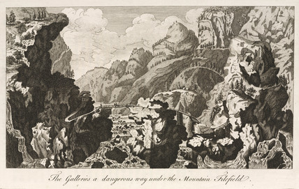 'The Galleries, a dangerous way under the Mountain Filefield', Norway, 1755.
