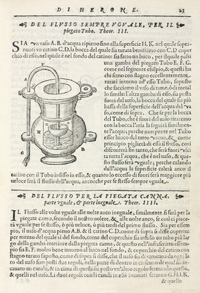 Uniform discharge siphon, 1589.