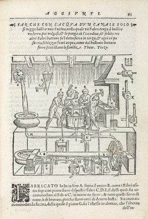 Forge powered by a single channel of water, 1589.