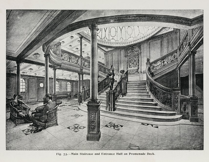 Interior of the 'Olympic' White Star liner, c 1911.