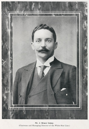Bruce Ismay, chairman and managing director of the White Star line, 1911.