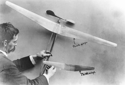A 'Penaud' style flying model, c 1871.
