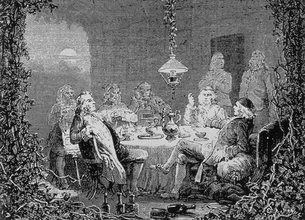 Meeting of the Lunar Society of Birmingham, late 18th century.