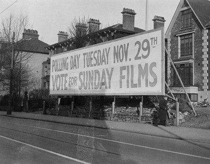 'Vote for sunday films', Croydon, Greater London, 25 November 1932.