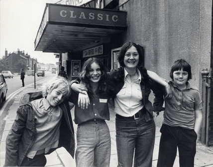 Four children that saved their local cinema, 28 May 1976.
