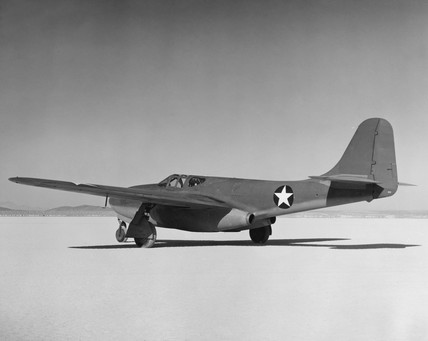 Bell XP-59A, Muroc Lake, California, c 1942.