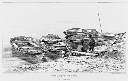 Thames wherries at Richmond, 1829.