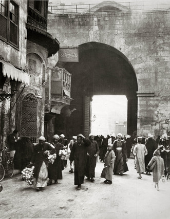 Street scene, Cairo, Egypt, 7 March 1928.