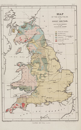 Map of the coal fields of Great Britain, 1869.