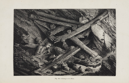 'Falling in of a Mine', 1869.