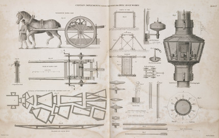 Items used during the construction of the Bell Rock Lighthouse, c 1810.