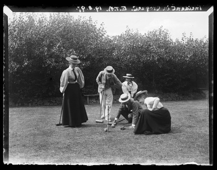 'Incident In Croquet match', 1897.