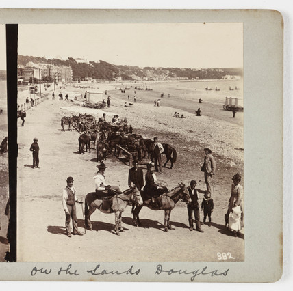 On the sands Douglas, about 1900.