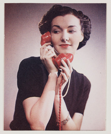 Woman on the telephone, c 1940s.