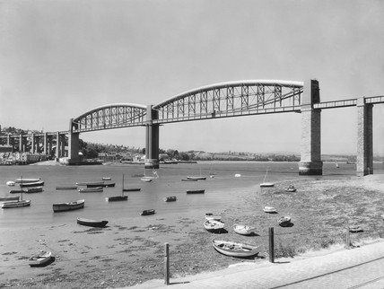 The Royal Albert Bridge, Saltash, Cornwall, June 1939.