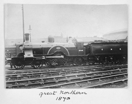 Great Northern Railway locomotive, 1870.