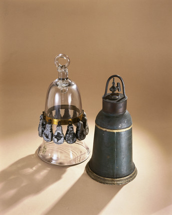Model diving bells, early 18th century.