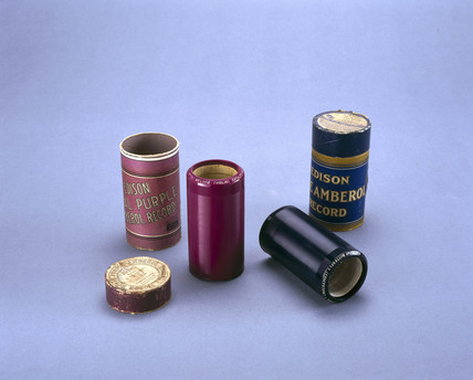 Cylindrical phonograph records, 1912 and 1914.