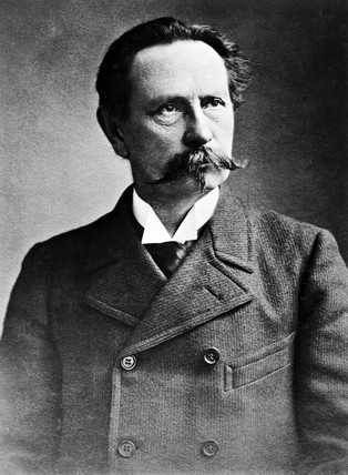Karl Friedrich Benz, German engineer and motor car manufacturer, c 1900.