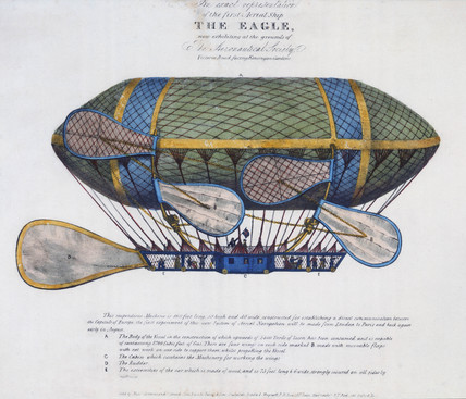 The 'Eagle' airship, 1834.