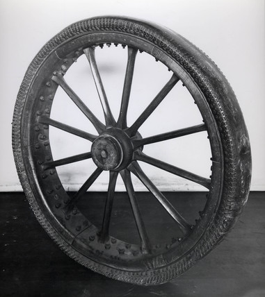 Thomson's pneumatic tyre, 1845.
